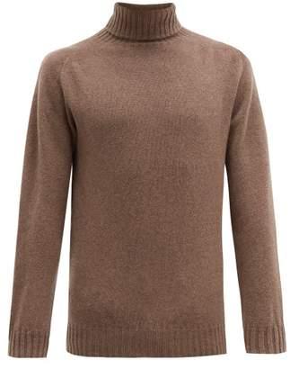 Officine Generale Seamless Roll Neck Wool Sweater - Mens - Beige
