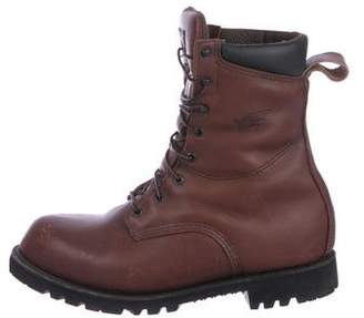 Red Wing Shoes Leather Round-Toe Boots