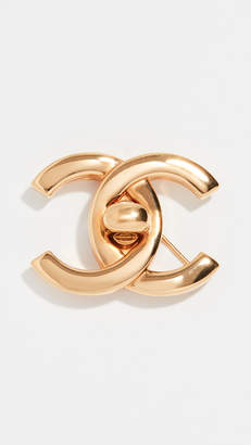 Chanel What Goes Around Comes Around Large Turnlock Pin