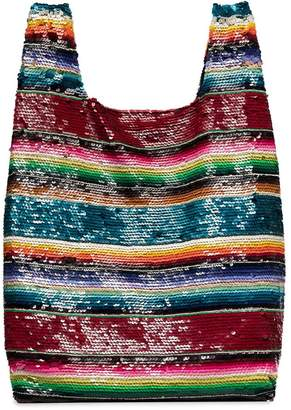 Ashish rainbow sequin embellished tote bag