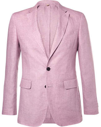 Burberry Pink Linen Suit Jacket