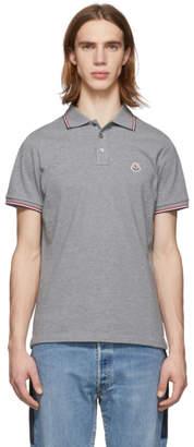 Moncler Grey Logo Polo