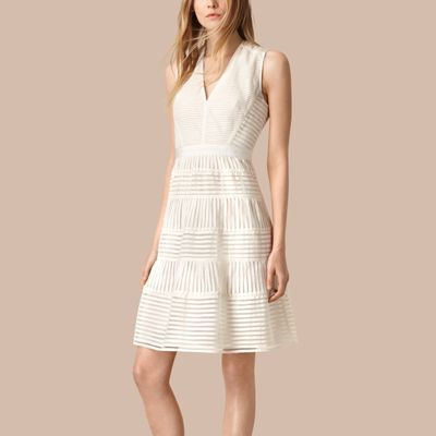 Burberry  Burberry Panelled Mesh Dress