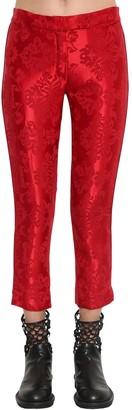 Ann Demeulemeester STRAIGHT LEG SATIN JACQUARD PANTS