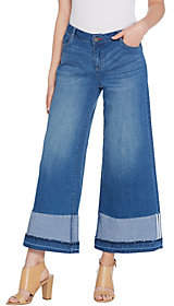 Peace Love World Wide-Leg Jeans with OversizedCuffs