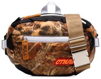 Heron Preston multicoloured CTNMB camouflage print padded cross body bag