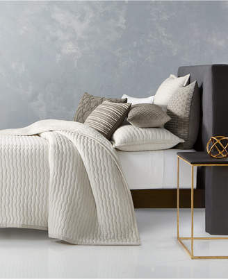 Hotel Collection Closeout! Arabesque Cotton Quilted King Coverlet, Created for Macy's Bedding