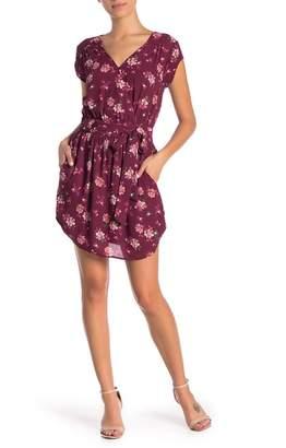 Daniel Rainn DR2 by Floral Surplice V-Back Dress (Petite)
