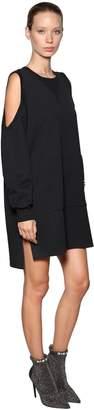 Diesel Cotton Sweatshirt Dress W/ Cutouts