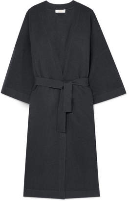 Eres Intimist Wool And Cashmere-blend Robe - Gray