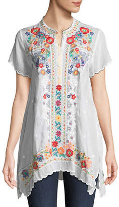 Johnny Was Mikones Embroidered Tunic, Plus Size