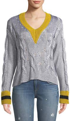 Rag & Bone Emma Cropped V-Neck Sweater