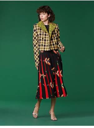 Diane von Furstenberg Long Sleeve Double Breasted Cropped Jacket