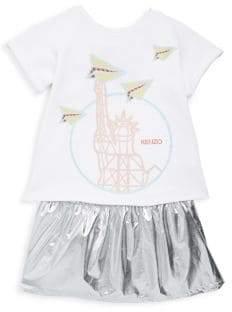 Kenzo Toddler's, Little Girl's& Girl's Sweatshirt& Metallic Dress Set