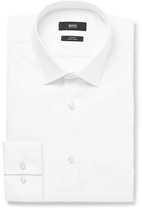 HUGO BOSS White Jenno Slim-fit Cotton Shirt - White