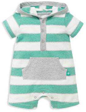 Offspring Baby Boy's Colorblocked Striped Cotton Romper