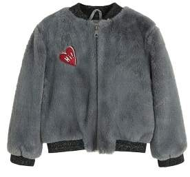 MANGO Faux fur bomber jacket