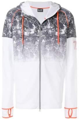 Emporio Armani Ea7 gradient print hoodie