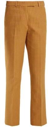 Etro Violante geometric-pattern stretch-cotton trousers