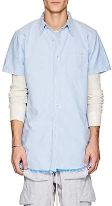 NSF Men's Cotton Oxford Elongated Shirt