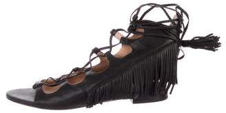 Sigerson Morrison Leather Lace-Up Sandals