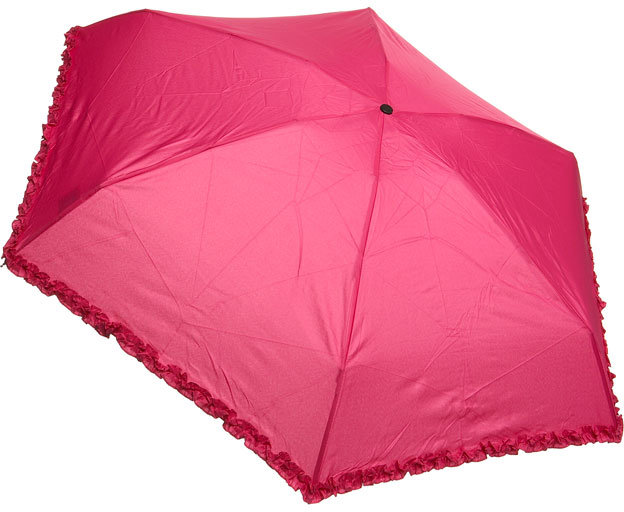 Pink Micro Frill Umbrella