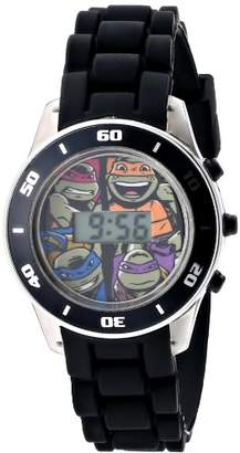 Nickelodeon Ninja Turtles Kids' Digital Watch with Silver-Tone Casing