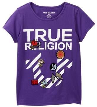 True Religion Stripe Horseshoe Tee (Big Girls)