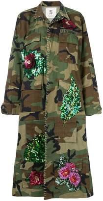 5 Progress camouflage print coat