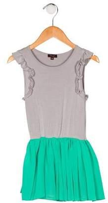 Imoga Girls' Sleeveless A-Line Dress