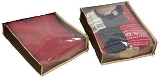 Household Essentials Coffee Linen Set of 2 Sweater Bag Set