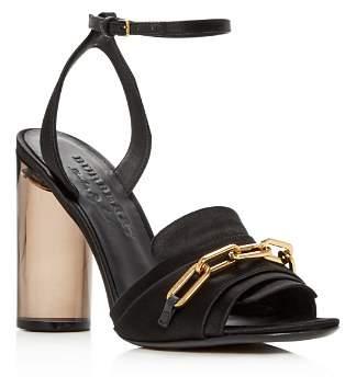 Burberry Women's Coleford Satin High-Heel Sandals