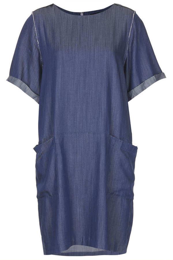 Topshop Denim Oversized Dress