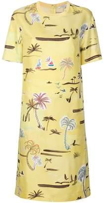 Agnona palm tree T-shirt dress