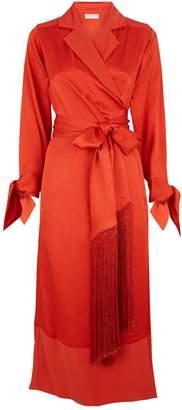 Amanda Wakeley Tassel Wrap Dress