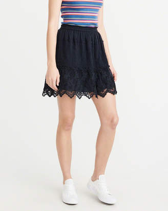 Abercrombie & Fitch Lace Trim Mini Skirt