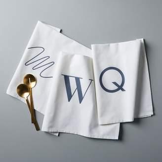 west elm Alphabet Tea Towel