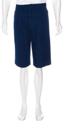 3.1 Phillip Lim Pleated Indigo Shorts