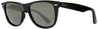 Ray-Ban RB2140 Large Polarised Original Wayfarer Sunglasses, Black