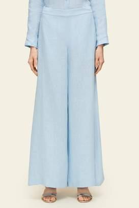 Mansur Gavriel Linen Oversized Flared Pant