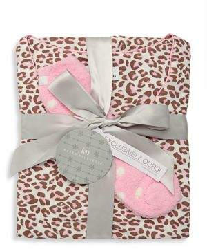 Karen Neuburger Three-Piece Leopard Print Pajama & Booties Set