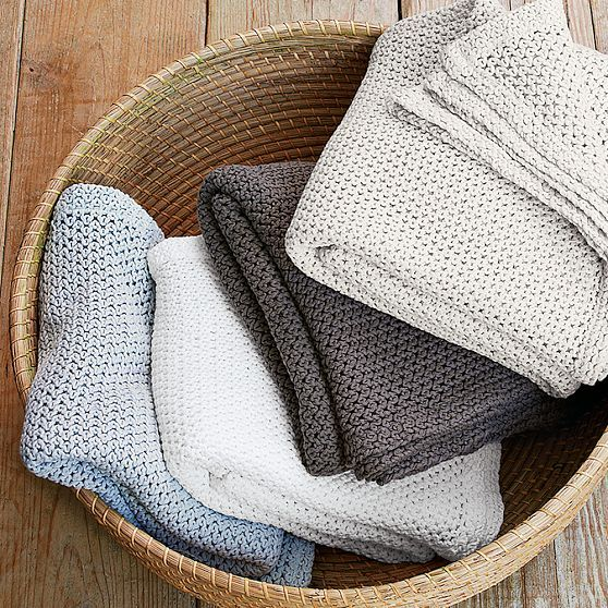 Organic Cotton Knit Throw
