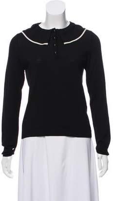 Vanessa Seward Ruffled Merino Wool Sweater