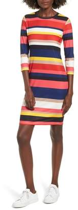 Socialite Rainbow Stripe Rib Knit Dress