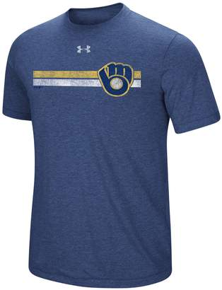 Under Armour Men's Milwaukee Brewers Stripe Graphic Tee