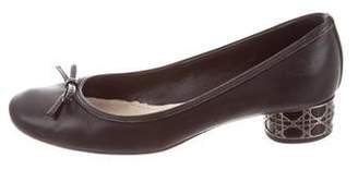 Christian Dior Leather Round-Toe Pumps