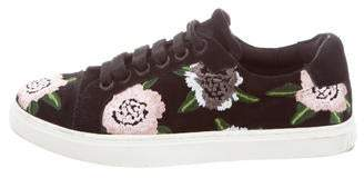 Rebecca Minkoff Embroidered Lace-Up Sneakers