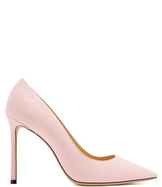 Jimmy Choo Romy 100 Suede Pumps - Womens - Light Pink