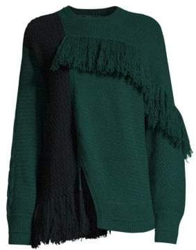 Yigal Azrouel Asymmetric Fringe Cashmere Sweater