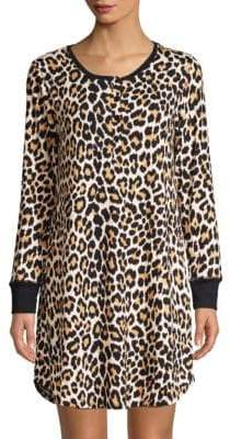 Kate Spade Leopard Sleepshirt& Mask Set